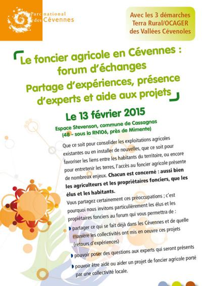 Couverture du flyer forum foncier agricole