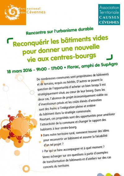 Flyer rencontre sur l'urbanisme rural