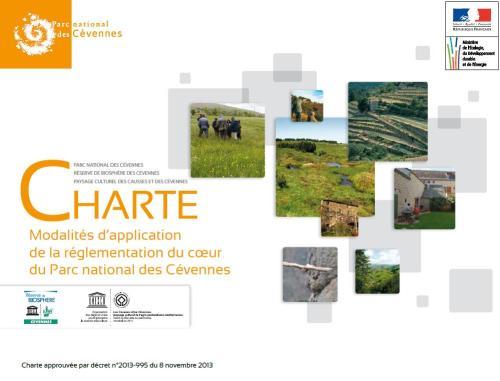 Modalités d'application de la réglementation du coeur du Parc national des Cévennes