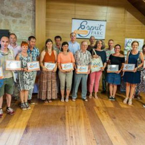 Les nouveaux bénéficiaires de la marque Esprit parc national, Florac, le 21 juin 2017