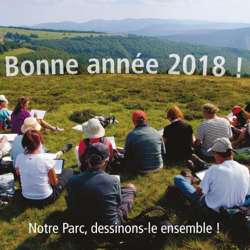Carte de voeux 2018 du Parc national des Cévennes