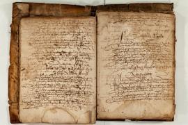 Manuscrit présent dans la collection du centre de documentation de Génolhac © Olivier Prohin PNC