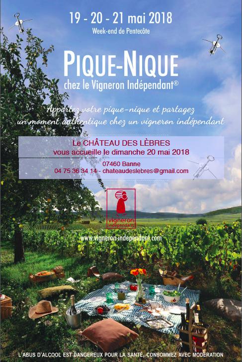 Affiche Château des Lèbres - Pique-nique chez le vigneron indépendant 2018