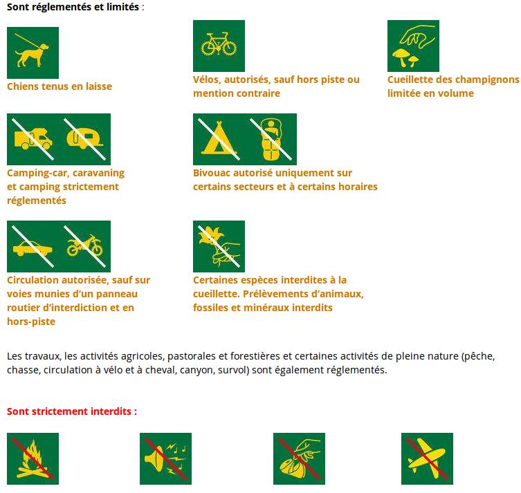 Réglementation du Parc national des Cévennes