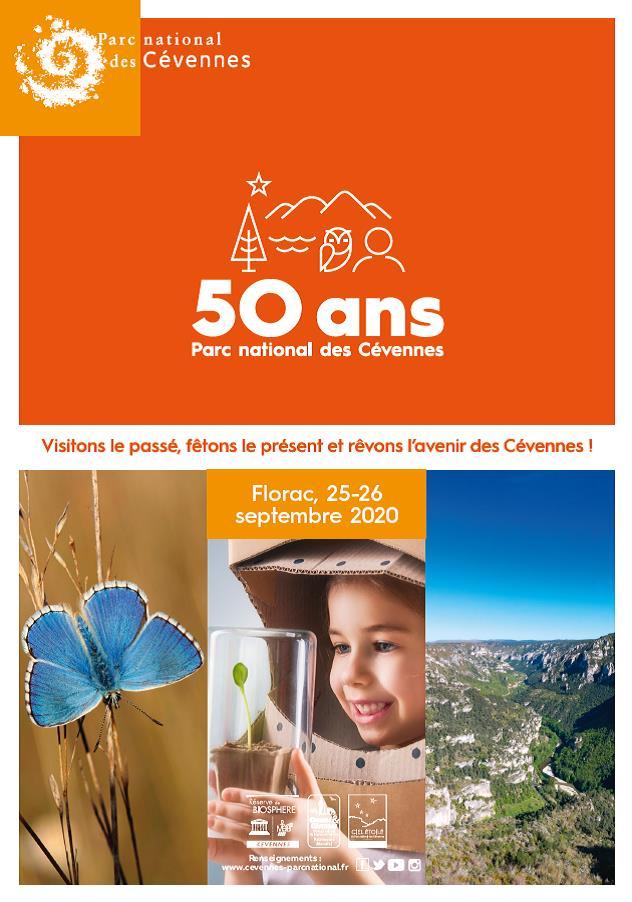 Programme Festivités 50 ans du PNC Florac 25 et 26 Septembre 2020