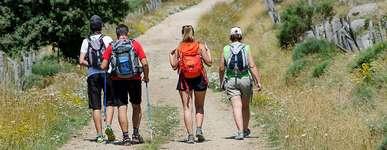 randonneurs sur le mont Lozère © Arnaud Bouissou Terra Ministère environnement